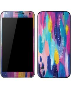 Pink Sparkle Brush Stroke Galaxy S5 Skin