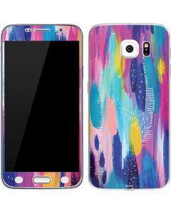 Pink Sparkle Brush Stroke Galaxy S6 Skin