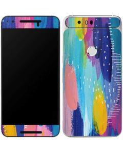 Pink Sparkle Brush Stroke Google Nexus 6P Skin
