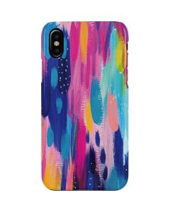 Pink Sparkle Brush Stroke iPhone XS Max Lite Case
