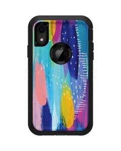Pink Sparkle Brush Stroke Otterbox Defender iPhone Skin