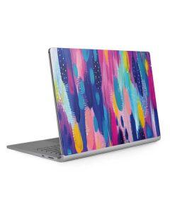 Pink Sparkle Brush Stroke Surface Book 2 13.5in Skin