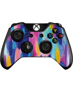 Pink Sparkle Brush Stroke Xbox One Controller Skin