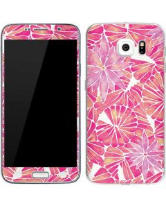 Pink Water Lilies Galaxy S6 Skin