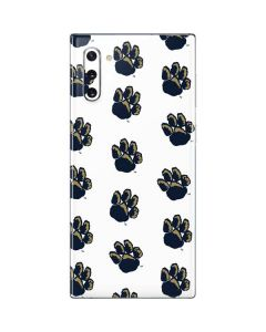 Pittsburgh Panthers Paw Prints Galaxy Note 10 Skin
