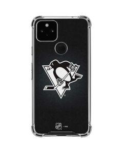 Pittsburgh Penguins Black Background Google Pixel 4a 5G Clear Case