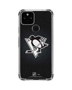 Pittsburgh Penguins Black Background Google Pixel 5 Clear Case