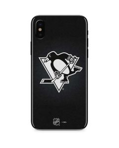Pittsburgh Penguins Black Background iPhone XS Skin