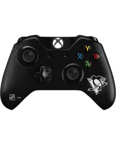 Pittsburgh Penguins Black Background Xbox One Controller Skin