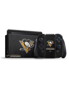 Pittsburgh Penguins Distressed Nintendo Switch Bundle Skin