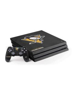 Pittsburgh Penguins Distressed PS4 Pro Bundle Skin
