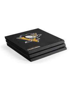 Pittsburgh Penguins Distressed PS4 Pro Console Skin