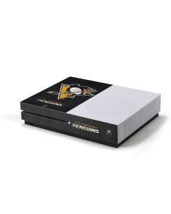 Pittsburgh Penguins Distressed Xbox One S Console Skin