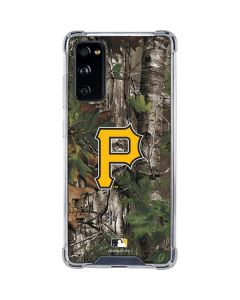 Pittsburgh Pirates Realtree Xtra Green Camo Galaxy S20 FE Clear Case