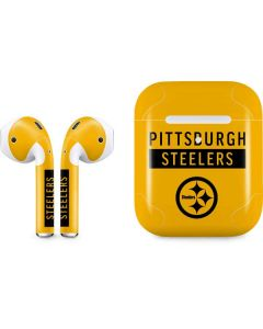 Pittsburgh Steelers Yellow Performance Series Apple AirPods 2 Skin