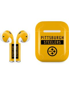 Pittsburgh Steelers Yellow Performance Series Apple AirPods Skin