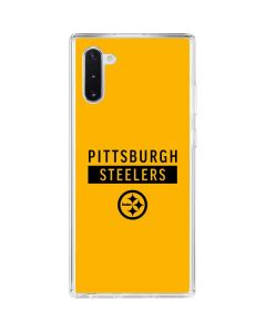 Pittsburgh Steelers Yellow Performance Series Galaxy Note 10 Clear Case