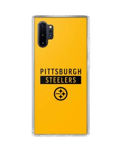 Pittsburgh Steelers Yellow Performance Series Galaxy Note 10 Plus Clear Case