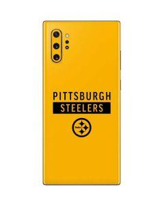 Pittsburgh Steelers Yellow Performance Series Galaxy Note 10 Plus Skin