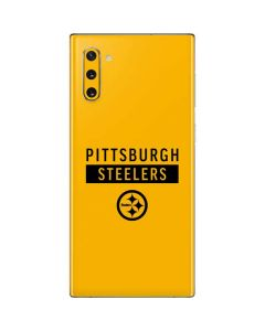 Pittsburgh Steelers Yellow Performance Series Galaxy Note 10 Skin