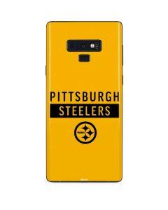 Pittsburgh Steelers Yellow Performance Series Galaxy Note 9 Skin