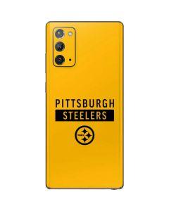 Pittsburgh Steelers Yellow Performance Series Galaxy Note20 5G Skin