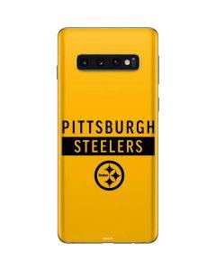 Pittsburgh Steelers Yellow Performance Series Galaxy S10 Skin