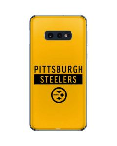 Pittsburgh Steelers Yellow Performance Series Galaxy S10e Skin