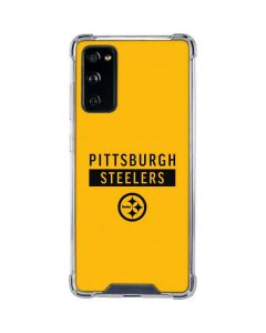 Pittsburgh Steelers Yellow Performance Series Galaxy S20 FE Clear Case