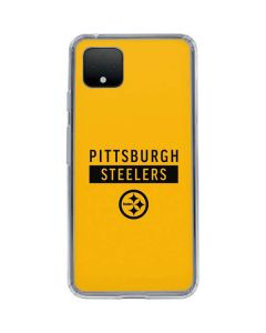 Pittsburgh Steelers Yellow Performance Series Google Pixel 4 XL Clear Case