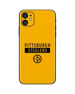 Pittsburgh Steelers Yellow Performance Series iPhone 11 Skin
