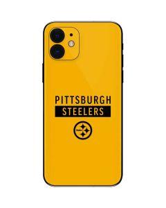 Pittsburgh Steelers Yellow Performance Series iPhone 12 Skin
