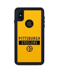 Pittsburgh Steelers Yellow Performance Series iPhone XS Waterproof Case