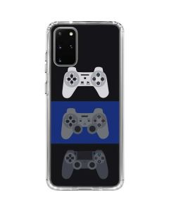 PlayStation Controller Evolution Galaxy S20 Plus Clear Case