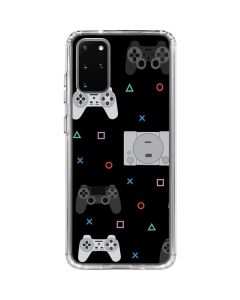 PlayStation Pattern Galaxy S20 Plus Clear Case