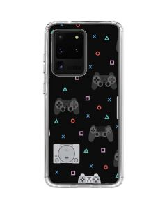 PlayStation Pattern Galaxy S20 Ultra 5G Clear Case