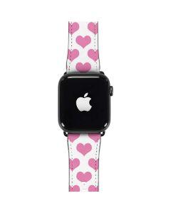 Plush Pink Hearts Apple Watch Band 42-44mm