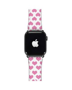 Plush Pink Hearts Apple Watch Case