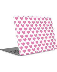Plush Pink Hearts Apple MacBook Air Skin