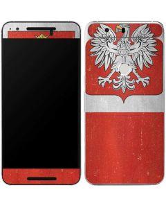 Poland Flag Distressed Google Nexus 6P Skin