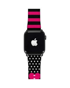 Polka Dots and Stripes Heart in Pink Apple Watch Band 42-44mm