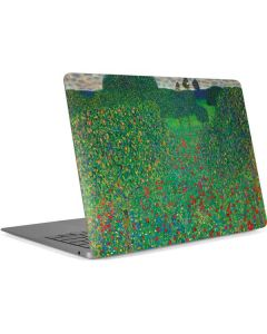 Poppy Field by Gustav Klimt Apple MacBook Air Skin