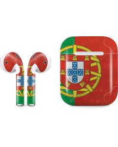 Portugal Flag Distressed Apple AirPods Skin