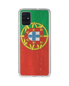 Portugal Flag Distressed Galaxy A71 Clear Case