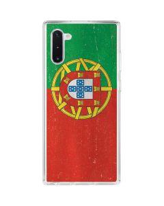Portugal Flag Distressed Galaxy Note 10 Clear Case