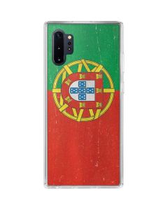 Portugal Flag Distressed Galaxy Note 10 Plus Clear Case