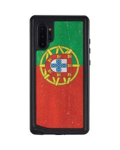 Portugal Flag Distressed Galaxy Note 10 Plus Waterproof Case