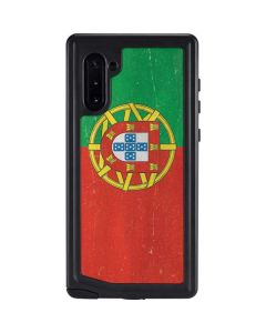 Portugal Flag Distressed Galaxy Note 10 Waterproof Case