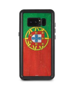 Portugal Flag Distressed Galaxy Note 8 Waterproof Case