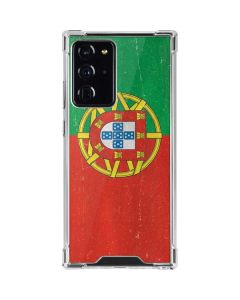 Portugal Flag Distressed Galaxy Note20 Ultra 5G Clear Case